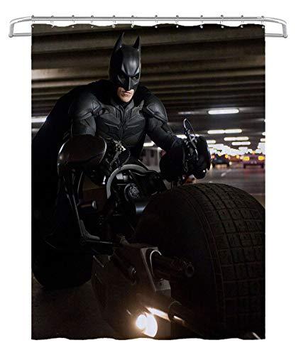 3D Duschvorhang Batman: The Dark Knight Rises Batman Badezimmer wasserdicht & schimmelresistent Duschvorhang für Badewanne & Duschkabine 180x180cm