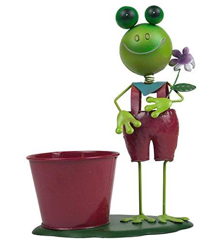 Pflanzfigur Frosch - Metallfigur zum Bepflanzen
