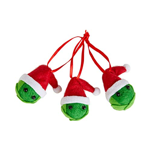 Talking Tables Pack of 3 Sprout Felt Christmas Hanging Decorate Your Tree or Place on Table