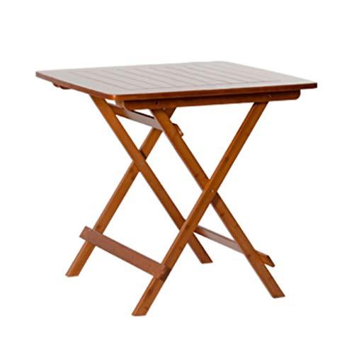 Mesa plegable de madera con patas de metal, para televisión, aperitivos, cenas, portátil, portátil, portátil, multiusos, fácil transporte (color: A)
