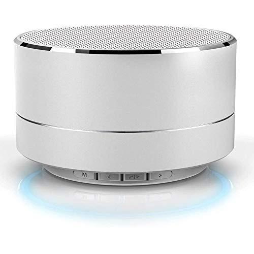HBBOOI Mini Bluetooth Lautsprecher, Kompakter Lautsprecher Mit 15 Stunden Spielzeit, Fantastischer Sound, 20 Meter Bluetooth Reichweite, FM Radio Und Intensiver Bass (Rosa) (Color : Weiß)