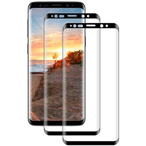 [2 Stück] Panzerglas für Samsung Galaxy S8 Schutzfolie,[3D Ultra-Clear][9H Härte][Bubble Free][Anti-Kratzer ][HD