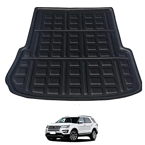 HLSP Bandeja del Forro de Carga Trasera del Coche, Placa de Tronco alfombras alfombras Alfombrillas Almohadillas Anti-Sucio, for Ford Explorer 2011-2015 2016 2017 2018 2019