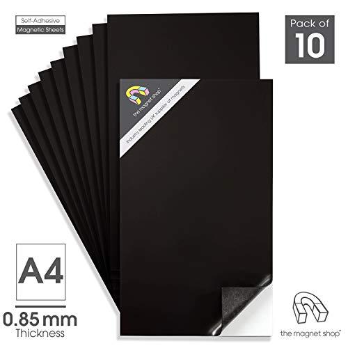 10 A4 selbstklebend magnetisch Blätter 0.85mm extra klebend, stark Flexibel Auto Schild und die Aufbewahrung der Kühlschrank Magnet Shop