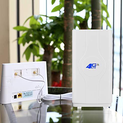 NETVIP 4G LTE Antenne 35dBi 2 x SMA Stecker(Male) Mimo SMA Antenna Booster Verstärker Antenne Richtantenne Signalverstärker für Huawei B593/B880/E5172/E5175/E5186/B890