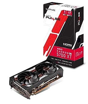 SAPPHIRE 11293-01-20G Radeon Pulse RX 5700 Xt 8GB GDDR6 HDMI/ TRIPLE DP OC w/ Backplate  UEFI  PCIe 4.0 Graphics Card