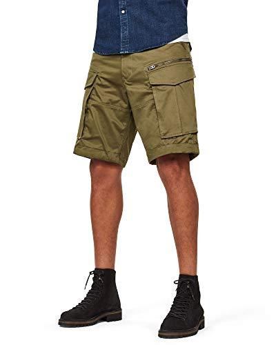 G-STAR RAW Herren Rovic Zip Relaxed 1/2-length Shorts, Schwarz (Sage 724), W33(Herstellergröße: 33W)