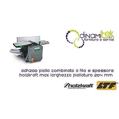 Foto di HOLZKRAFT Pialla Combinata A Filo E Spessore ADH200 - Max Larghezza Piallatura 204 Mm