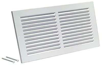 "Rocky Mountain Goods Air Return Grille - Heavy Duty Steel with Premium Finish - Includes Full Installation kit - Louvered Design - Paintable Vent Cover - Matte White - Consistent air Flow (10"" x 6"")"