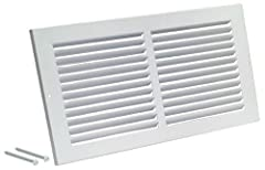 Heavy duty steel air return vent cover Includes installation kits with screw for quick installation of air return register Size of wall vent cover shown made to perfectly fit duct opening Louvered design for look and better air flow Lifetime warranty