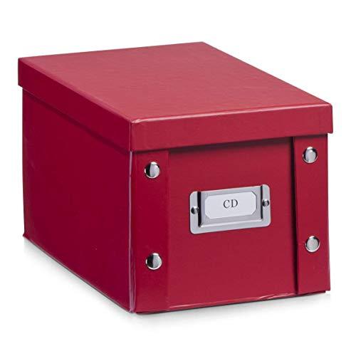 Zeller CD-BOX ROT ca. 16.5 x 28 x 15 cm