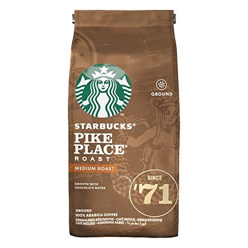 Starbucks Pike Place Medium Roast Ground Coffee Bag, 200g