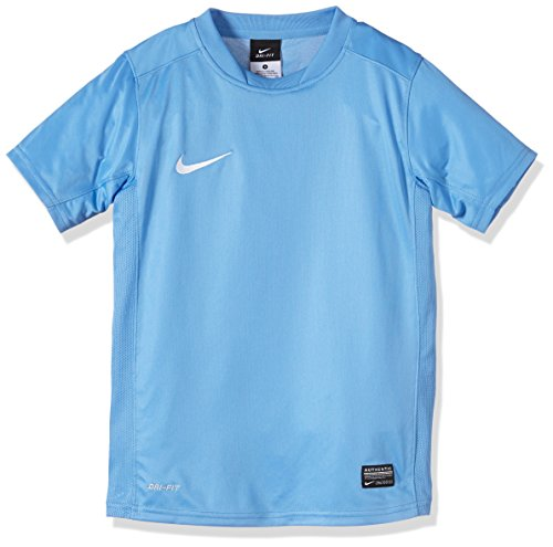 NIKE Kurzärmliges Trikot Park V - Camiseta de equipación de fútbol para niño, Color Azul, Talla S