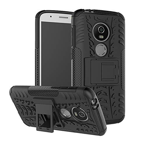 betterfon | Outdoor Handy Tasche Hybrid Case Schutz Hülle Panzer TPU Silikon Hard Cover Bumper für Motorola Moto E5 Play Schwarz