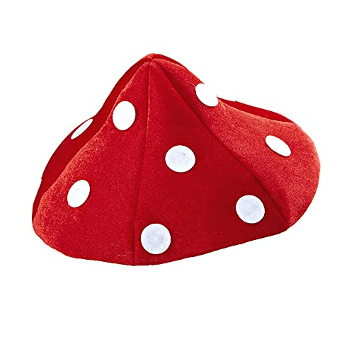 Widmann wdm0211l ? Déguisement Pour Adultes Chapeau champignon, rouge, taille unique
