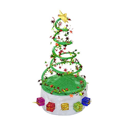TOYMYTOY Christmas Hats Christmas Tree Spring Santa Hat Dress up Party Hats Green, 20 x 40cm