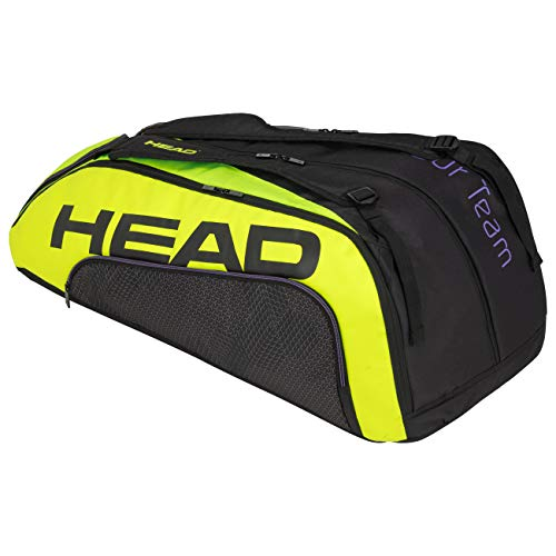 Head Tour Team Extreme 12R Monstercombi Bolsa de Tenis, Adultos Unisex, Negro/Neon Amarillo