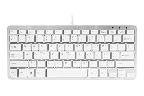 R-Go Compact toetsenbord, QWERTY (US), wit, draadgebonden