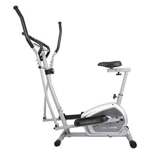 Welcare Elliptical Cross Trainer WC6044 with Adjustable seat, Hand Pulse Sensor, LCD Monitor, Adjustable Resistance for Home Use (DIY Installation with Video Call Assistance)