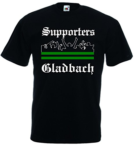 World-of-Shirt Herren T-Shirt Gladbach Ultras Supporters|L