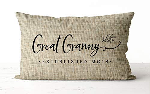 Great Granny Stabiled, federa per cuscino con scritta in lingua inglese 'Inviante' per la bisnonna, 30 x 50 cm, in lino, rettangolare, per decorazione per la casa, ideale come regalo per la nonna