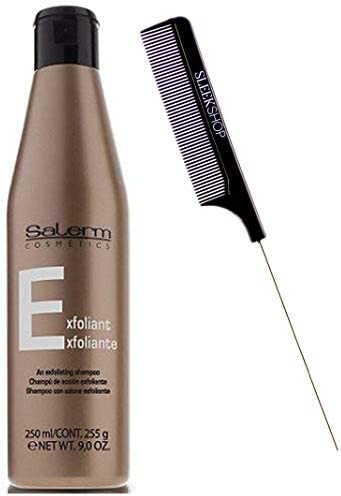Salerm Cosmetics Exfoliant DANDRUFF Shampoo Contains Zinc Eliminates Itchiness Scalp Irritations product image