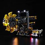 BRIKSMAX Kit di Illuminazione a LED Lego Technic Escavatore gommato a Tazze - Compatibile con Lego 42055 Modello di Blocchi predefiniti- Non includere Il Set Lego