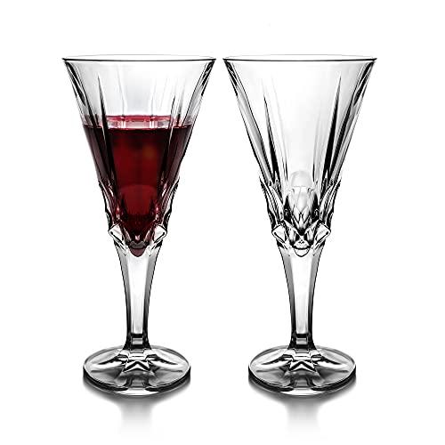 Premium Code Set di 2 bicchieri da vino rosso – bicchieri da vino bianco Aperol Spritz e champagne – Set di bicchieri da vino in cristallo 240 ml con elegante confezione regalo (Bellot)