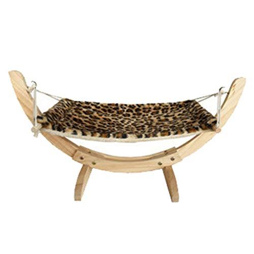 Eliky Cat Dog Houten hangmat Nest Dog Cat Swing Bed gemakkelijk te monteren houten constructiekat accessoires auto's.