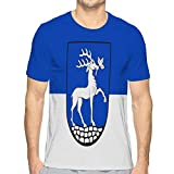 jiilwkie T-Shirt à Manches Courtes et col Rond pour Homme Drapeau de Drensteinfurt en Rhénanie du Nord-Westphalie XXL