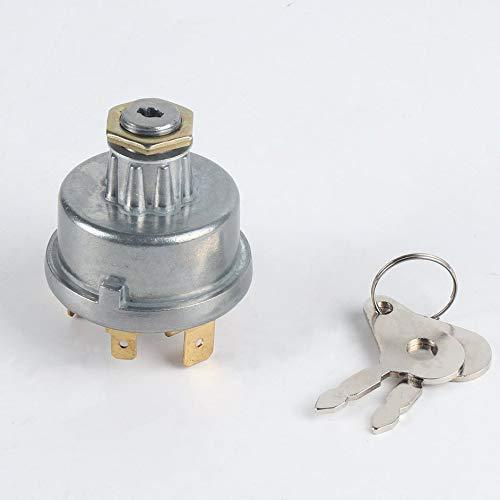 SENZHILINLIGHT Interruptor de encendido del tractor Arrancador de la cerradura de encendido 12239 para Massey Ferguson para David Brown para el caso para John Deere
