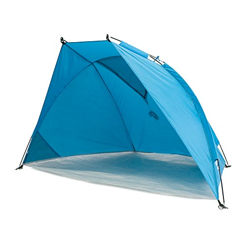 outdoorer Carpa para Playa Helios Air, azúl, protección UV de 80, pequeño, aireado - Carpa de Playa para Viajar
