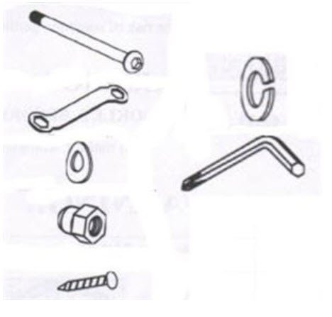 Trampoline Enclosure Hardware kit for the TR-14-63A OEM Equipment