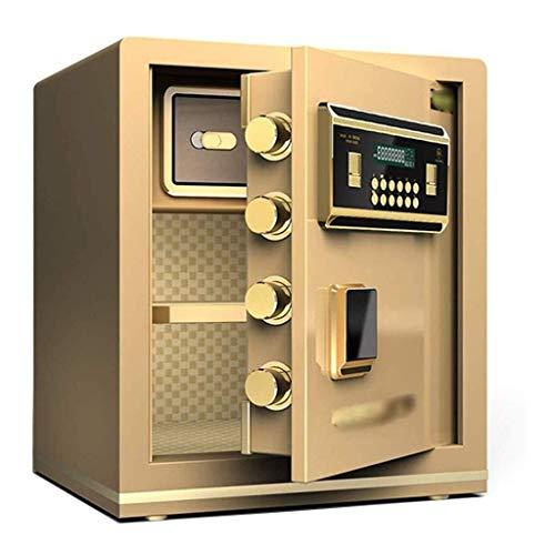 Wandjunxiu veilig thuis Safes, 45 cm volledig stalen office-vingerafdruk, wachtwoord, anti-diefstalkluis, onzichtbare muur, in de kast, Bedside, afsluitbare opbergdoos, brandwerende documentasc Wachtwoord.