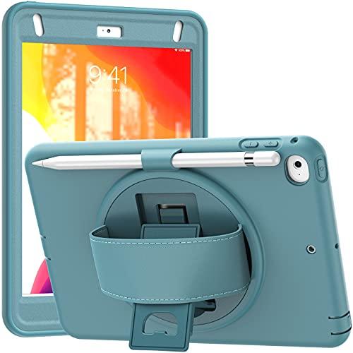 Funda para iPad Mini 5 2019 (5th Generation 7.9 Inch)/ iPad Mini 4 2015, Cubierta Protectora Completa a Prueba de Golpes de Tres Capa con 360° Rotativo Asa de Mano,A04