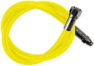 New Oceanic Aeris 36 Inch Low Pressure Braided Scuba Regulator Hose (Neon Yellow-MaxFlex)