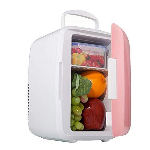 Guajave Mini Kühlschrank Elektrisch Kühler Wärmer Tragbar Auto Kühlschrank Thermoelektrische System für Heim Büro Auto - Rosa