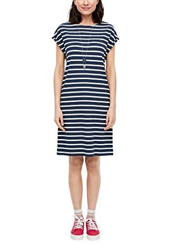 s.Oliver Damen 120.14.003.20.200.2043288 Kleid, Eclipse Blue Stripes, 40