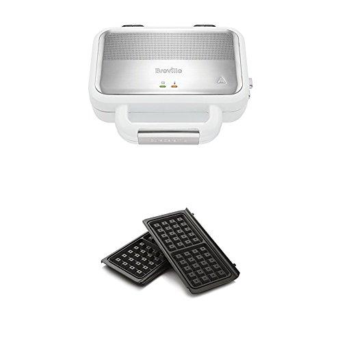 Breville VST074X Hochglanz DuraCeramic Jumbo-Sandwich-Toaster + Breville VST079Waffelplatten