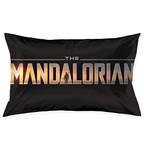 Star W The Man-Dalorian - Funda de cojín cuadrada para hombre y mujer, decoración del hogar, sofá, sillón, dormitorio, sala de estar, 50,8 x 76,2 cm
