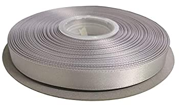 Duoqu 1/2 Inch Wide Double Face Solid Satin Ribbon 50 Yards Roll Multiple Colors Shell Grey