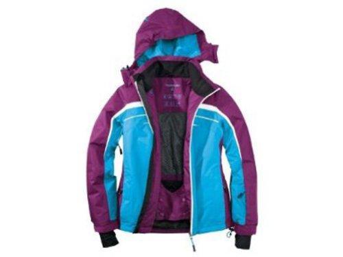 Damen Skijacke Snowboardjacke 42 lila-blau-weiss