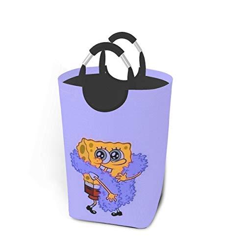 KSHGZH Laundry Basket Collapsible Laundry Hamper - Spongebob Squarepants Clothes Bag Storage Basket, Folding Washing Bin 50l