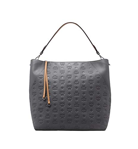 Turn your day of shopping into a day of fashion carrying the MCM™ Klara Monogrammed Leather Large Hobo. Shopper made of genuine 100% leather. Spacious top opening with zipper closure. Wrapped top carry handle. Decorative dual tassels. Adjustable shou...