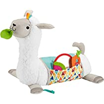 Fisher-Price Grow-with-Me Tummy Time Llama, Plush Infant Support Wedge, Multi