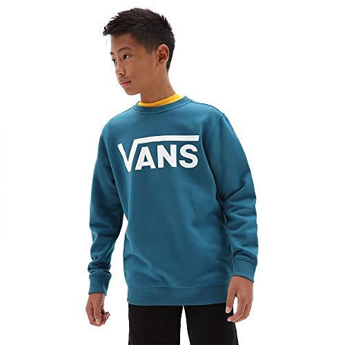 Vans Classic Crew Boys Sudadera, Marroquí Azul-Blanco, XL para Niños