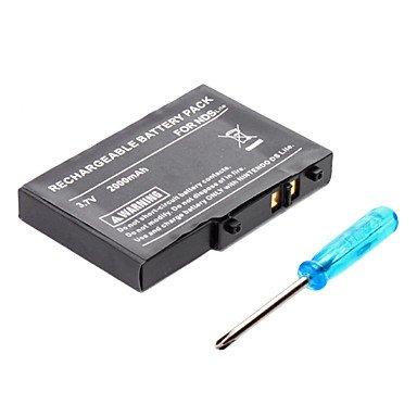 GoiGame oplaadbare batterijpack voor Nintendo DS Lite + schroevendraaier (2000 mAh)