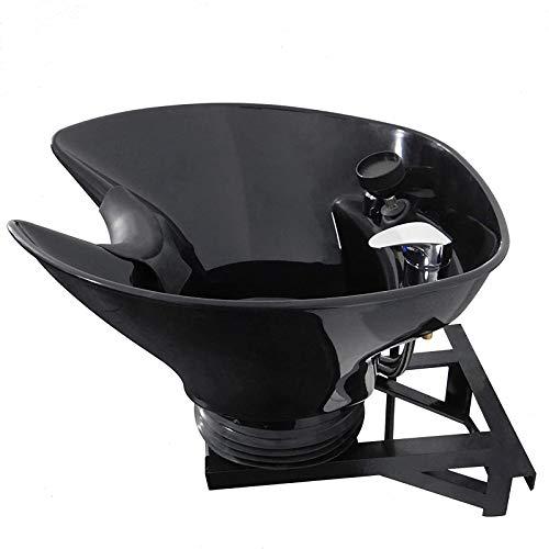ZXCASD Lavacabezas De Peluquería, Lavabo Desmontable Lavabo Recambio para Lavacabezas De Peluquería, Modelo General, Cerámica Negra