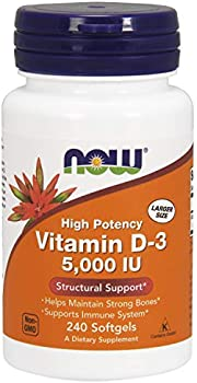 240-Count Now Supplements, Vitamin D-3 5,000 IU,High Potency