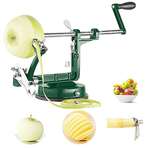Apple Peeler, Apple Slicer and Corer with Stainless Steel Hand
